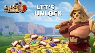 Let's Unlock Hero Skin (Gladiator King) Clash of Clans - COC