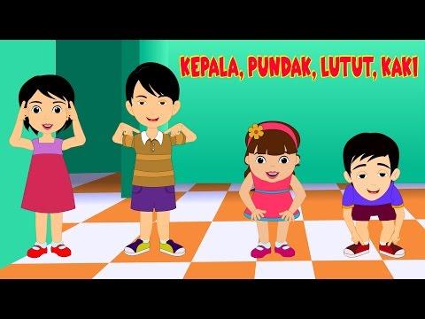 Kepala Pundak Lutuk Kaki  | Lagu Anak TV | Head Shoulders Knees And Toes In Bahasa Indonesia