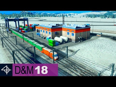 FINALLY! Cargo Train Terminal Hub | Unmodded Cities: Skylines – Design and Manage, Part 18