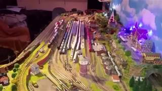 Spur N Modellbahn Fahr Video, Halberstädter und Doppeltraktion Taigatrommel