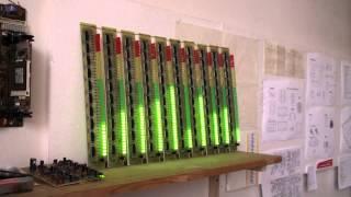 10 band audio spectrum analyzer with 400 led fullhd
