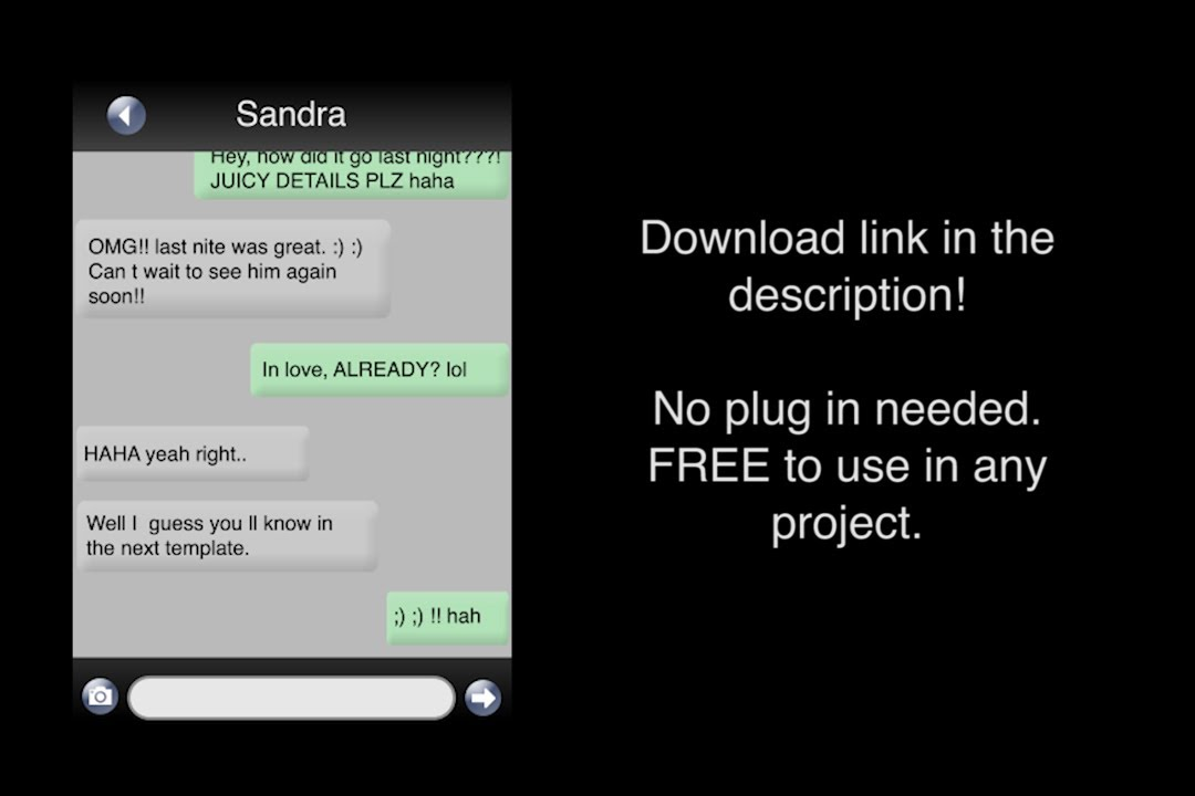free inside phone text msgs template for after effects tutorial