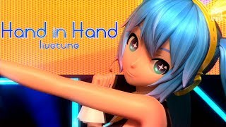 Repeat youtube video [60fps Full風] Hand in Hand - Hatsune Miku 初音ミク Project DIVA Arcade English lyrics Romaji subtitles