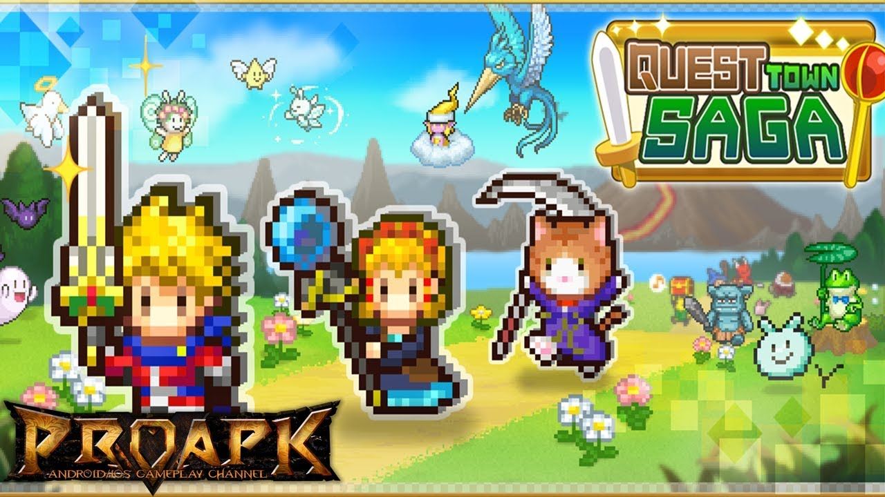 Quest Town Saga Gameplay Android / iOS (by Kairosoft Co.,Ltd) - YouTube