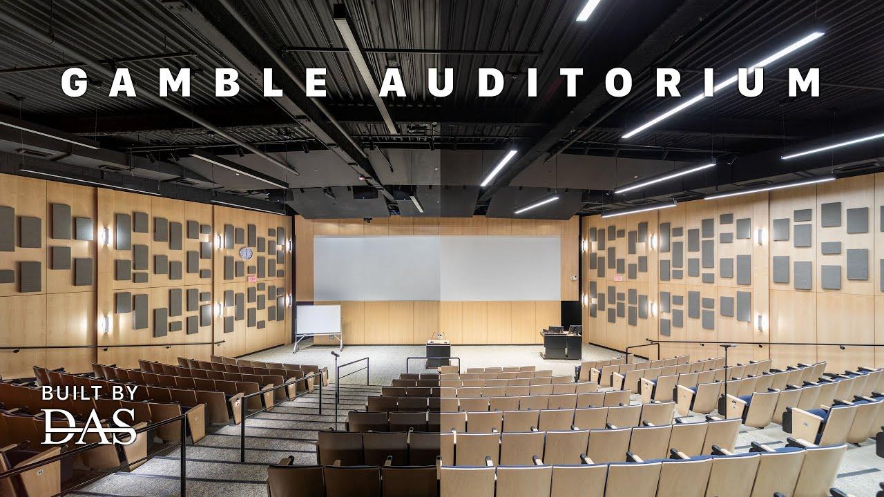 Gamble Auditorium at Mount Holyoke College - Built By DAS - 4K