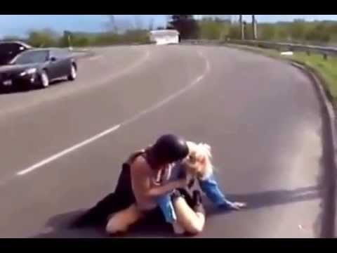 Female Security Guard Gets A Beatdown From A Biker Chick  YouTube