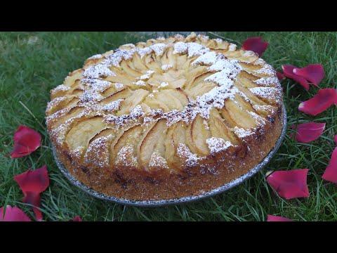 gâteau-moelleux-aux-pommes-et-crème-d'amande-/-apple-almond-cream-cake-/كعكة-التفاح-واللوز-والكريمة