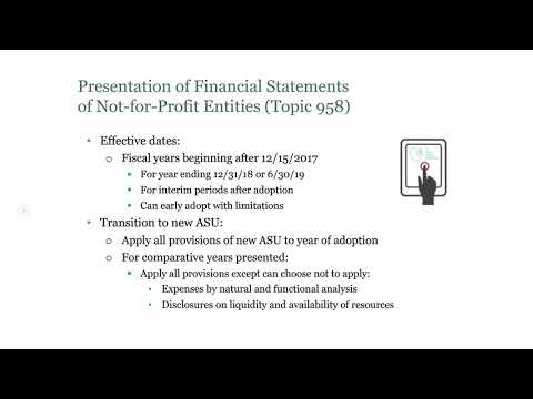 Not-for-Profit Accounting and Auditing: Fall 2017 Update