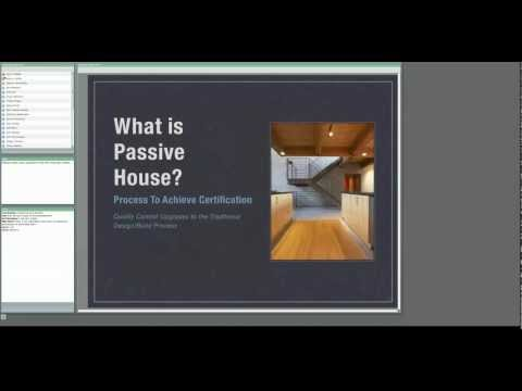 """An Introduction to the Passive House Standard""."