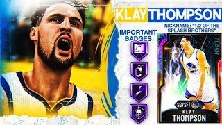 GALAXY OPAL KLAY THOMPSON GAMEPLAY! FULL POWER OF THE SPLASH BROTHER! NBA 2k20 MyTEAM