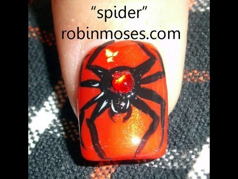 Nail Art Tutorial | DIY Easy Halloween Nails | Spider Design - Nail Art Tutorial DIY Easy Halloween Nails Spider Design - YouTube