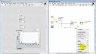 NI LabVIEW: FFT subVI to compute magnitude spectrum