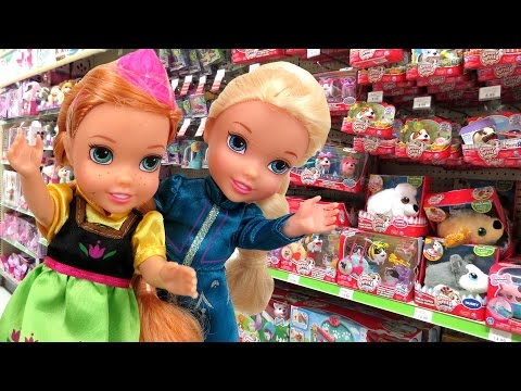 Toy Hunt with Elsa & Anna toddlers ! Lots...