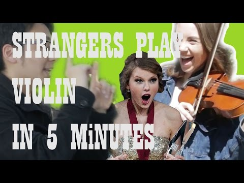 Teaching Strangers How To Play Violin In Minutes