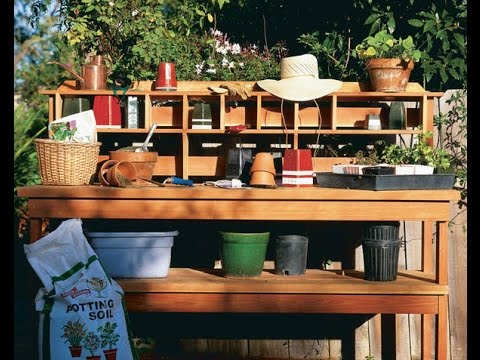 Delicieux 15 Potting Bench Plans To Make Gardening Work Easy