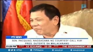 Sen. Pacquiao, nagsagawa ng courtesy call Pres. Duterte sa Malacañang