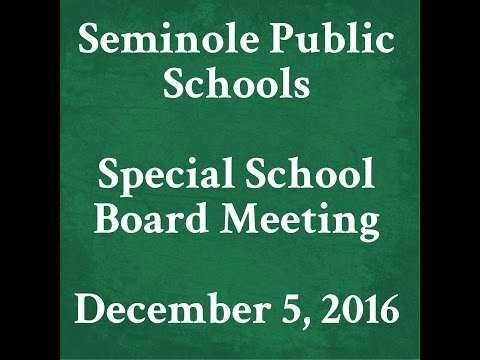 2016 12 05 SPS SPECIAL SCHOOL BOARD MEETING