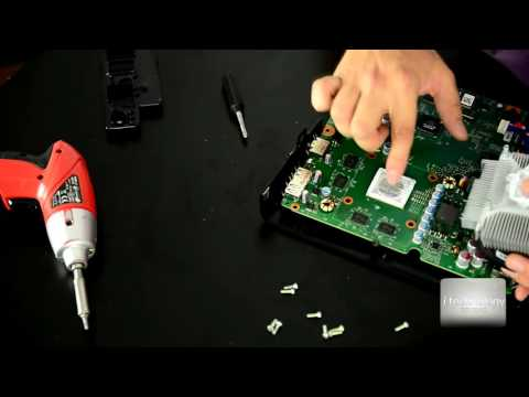 Fix XBOX 360 Freezing in games problem; overheating xbox console changing thermal paste