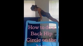 Beginner Gymnastics Back Hip Circle Tutorial