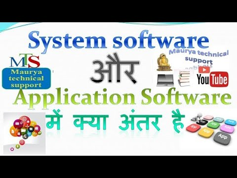 System  Software And Application Software Mein Kya Antar(difference) Hai.