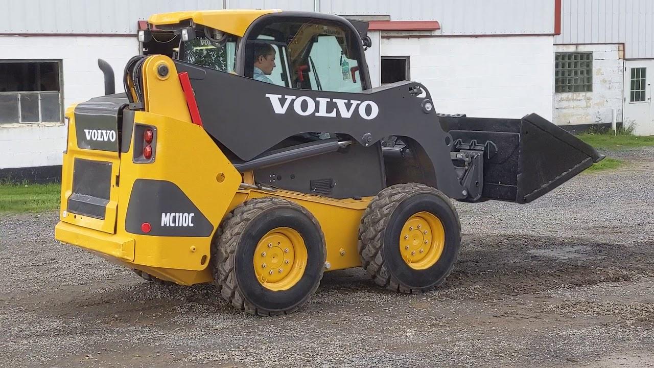 2013 Volvo Mc110c Skid Steer Loader  Running  U0026 Operating