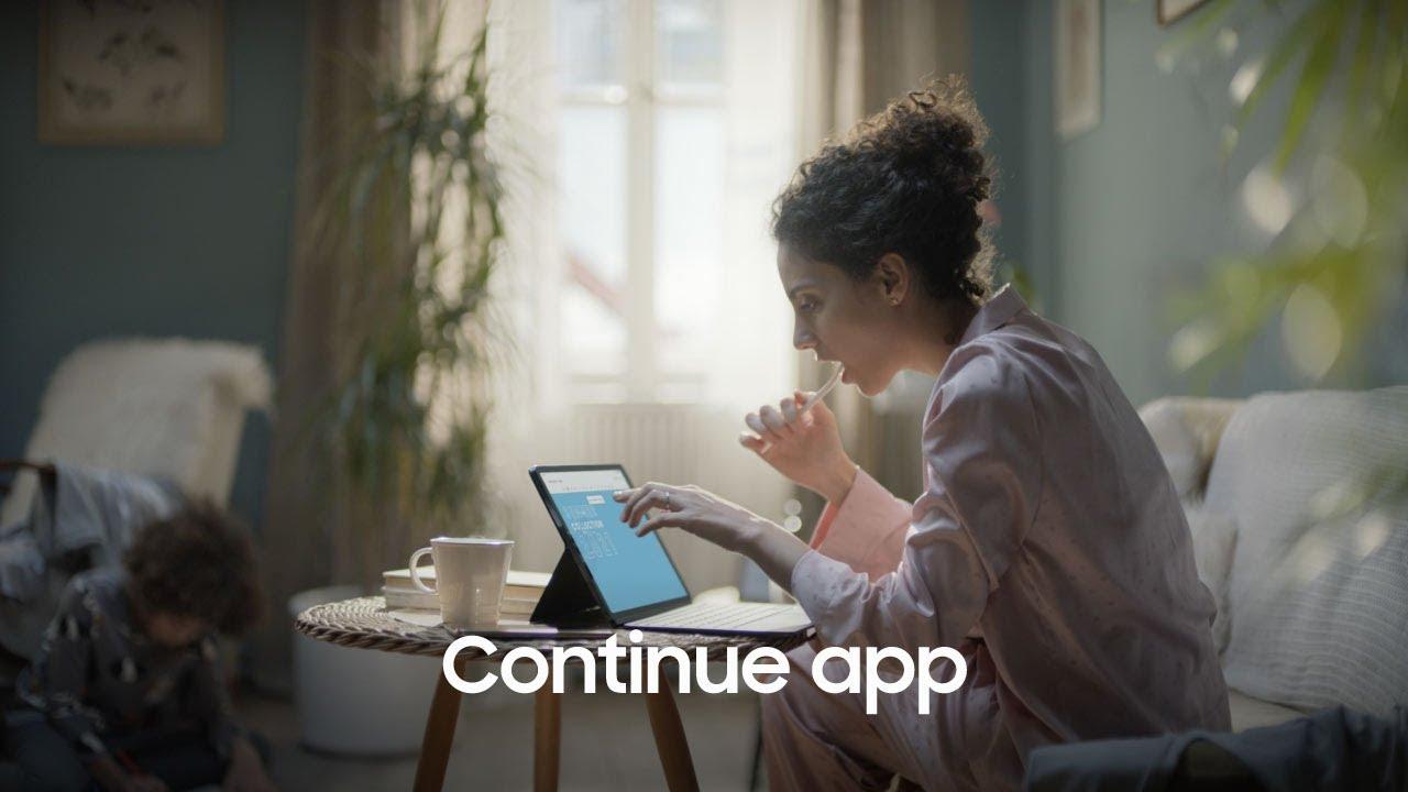 Samsung | Producto | Galaxy Tab S7| S7+| Continue app