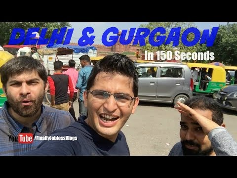 Delhi and Gurgaon in 3 minutes