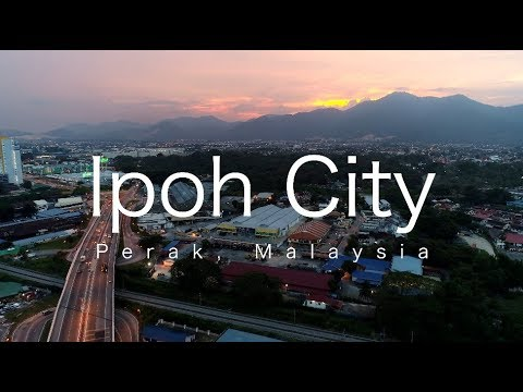 Evening in Ipoh City, Perak, Malaysia - March 2018 (4k)