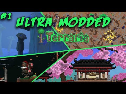 Into The Diggy World! | Ultra Modded Terraria | Episode 1
