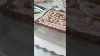 학교에서케이크만든 영상