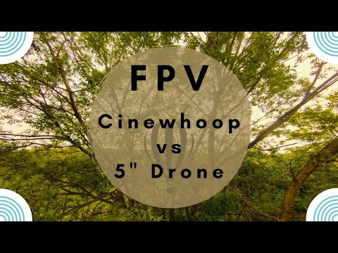 "Фото Cinewhoop Drone vs 5"" Freestyle Drone ! Romania FPV."