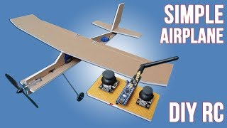 How To Make Simple RC Airplane For Simple Radio Control. DIY RC Aiplane & Arduino RC