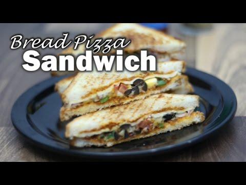 Bread Pizza Sandwich - Breakfast Recipes - Seema's Smart Kitchen