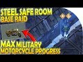 STEEL SAFE ROOM BASE RAID + MAX MILITARY MOTORCYCLE PROGRESS - Last Day on Earth Survival 1.11.3