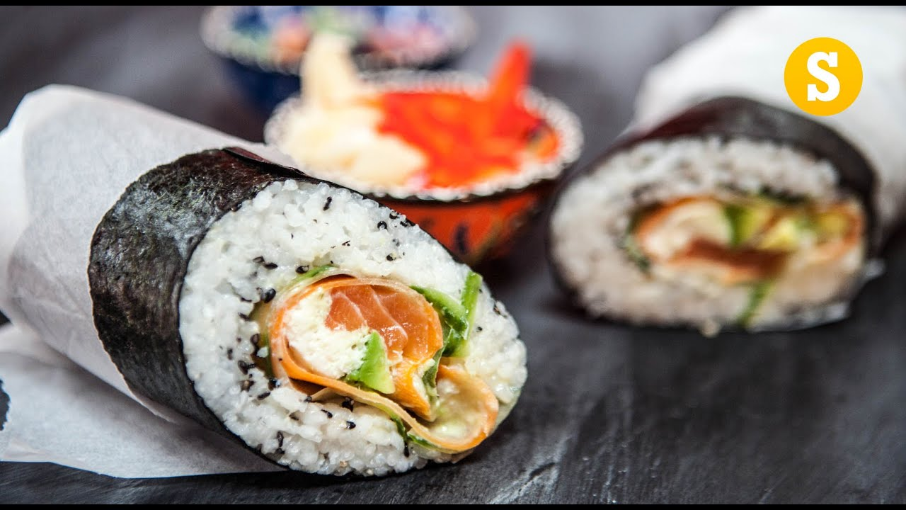Sushi Burrito Recipe - YouTube