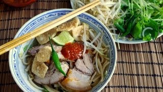 Hoi An Noodle Recipe (cao Lau) - Brown Noodle With Pork And Greens