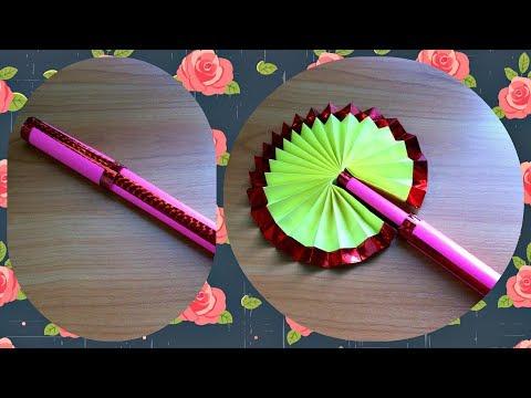 Как сделать своими руками веер для украшения из бумаги для
