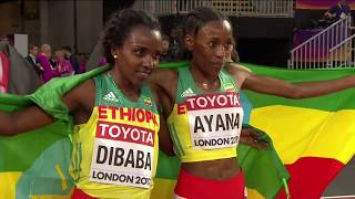 Almaz Ayana wins the 10000m final at the 2017 IAAF world championship final 2017 in London ...
