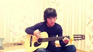 Ахра Прогулка в облаках на гитаре Тастанбеков Ербол
