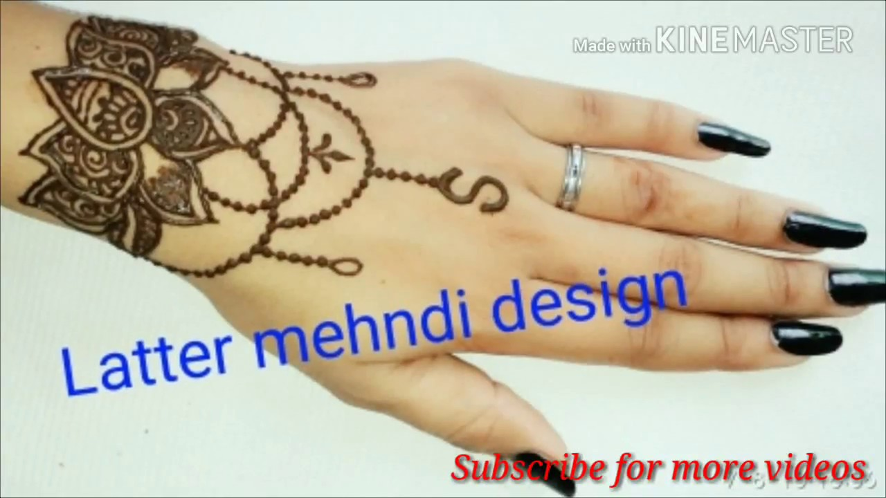 S Letter Mehndi Design Best Latest Mehndi Design By Kasak Rajput