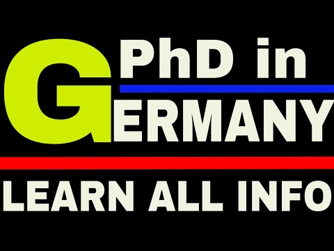 How to do Phd in Germany | Phd in Germany with Scholarship