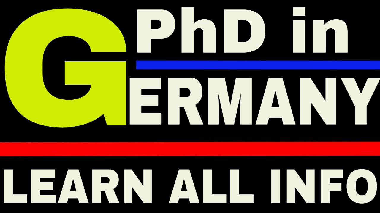 How to do Phd in Germany   Phd in Germany with Scholarship