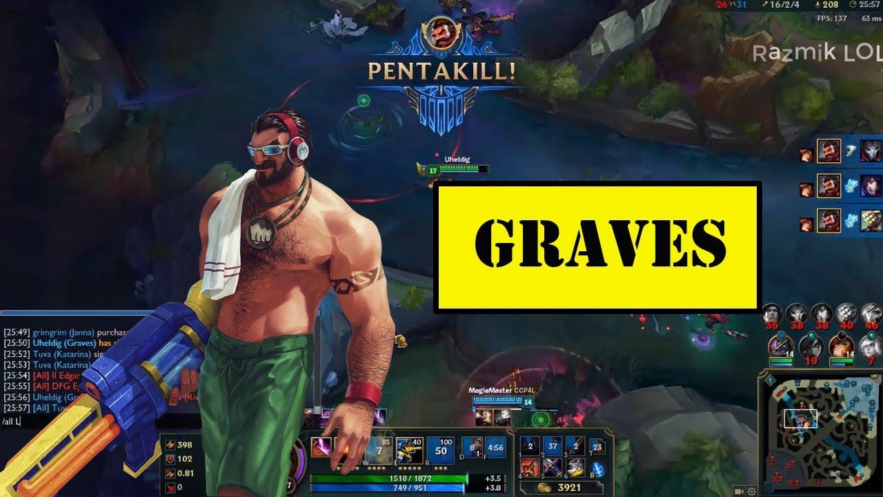 Graves Montage #5 – Best Graves Plays Compilation – God of Graves[Razmik LOL]