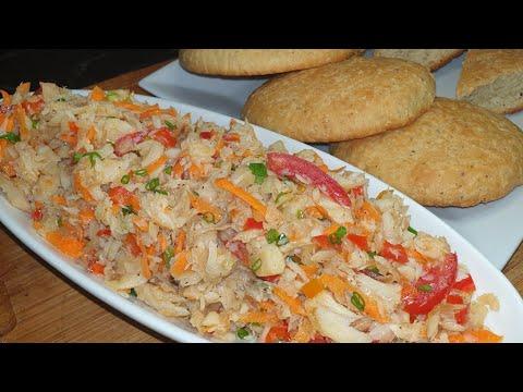 How To Make Coconut Bake And Saltfish Buljol   Trinidad & Tobago 🇹🇹