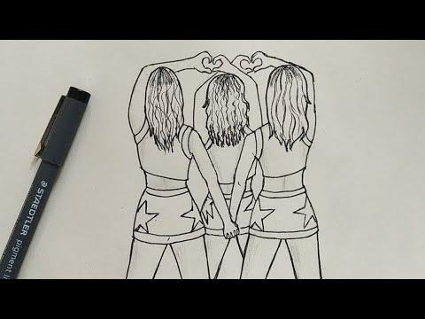 Draw Best Friends Bff Easy Step