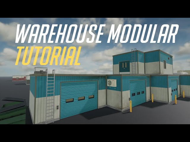 Few Clicks Modular Warehouse Asset Tutorial for Unity Engine