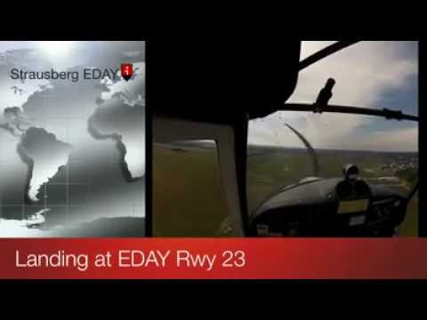 Short Final Approach Runway 23 at EDAY Strausberg Airport