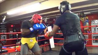 Heavyweight Boxing Sparring Inside Stacey McKinley Boxing Gym
