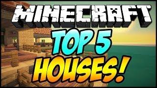 Top 5 BEST Minecraft Houses! (Minecraft 1.7.5) - 2014 [HD]