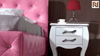 Monte Carlo Pink Leatherette Modern Twin Bed Vgkcmonte-pnk From Vig Furniture